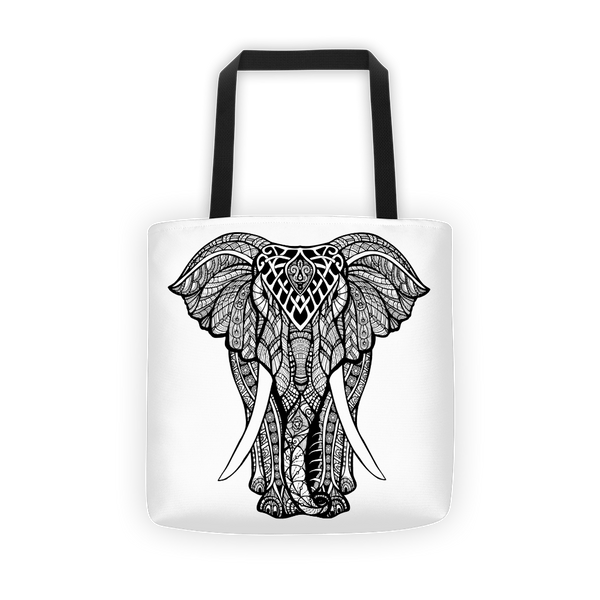 Charging elephant Tote bag