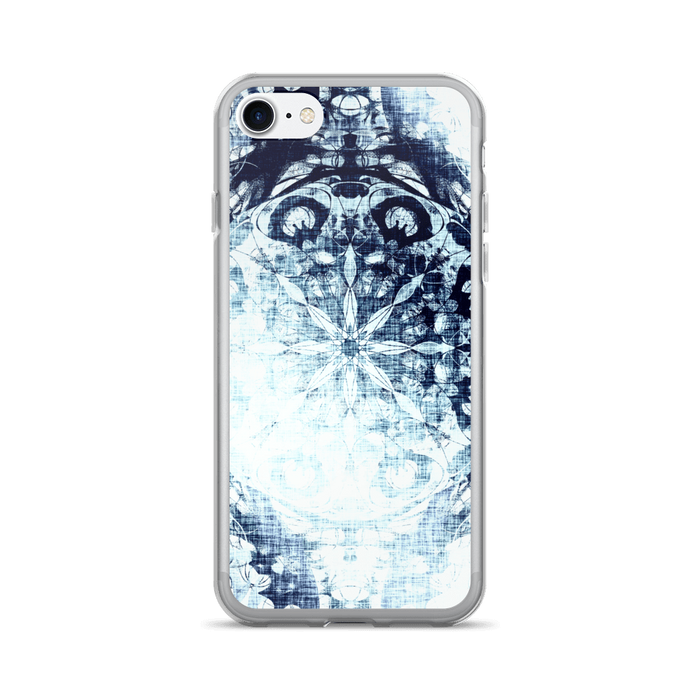 Cold blue iPhone case