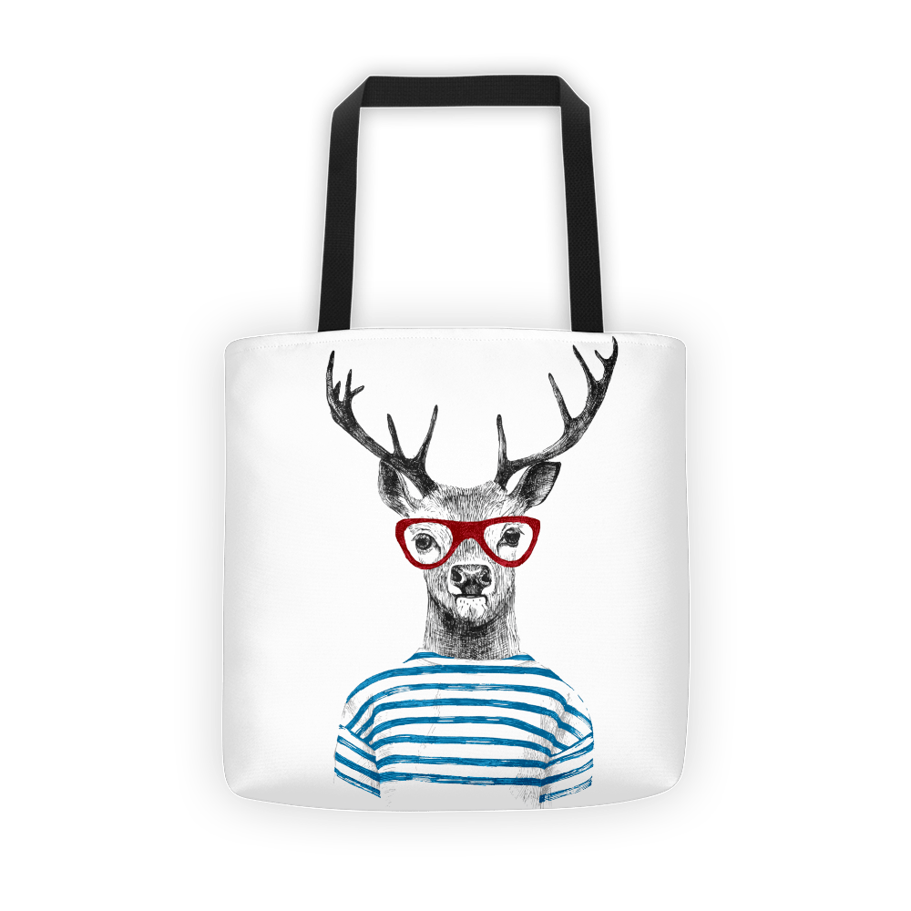 Deer stripes Tote bag