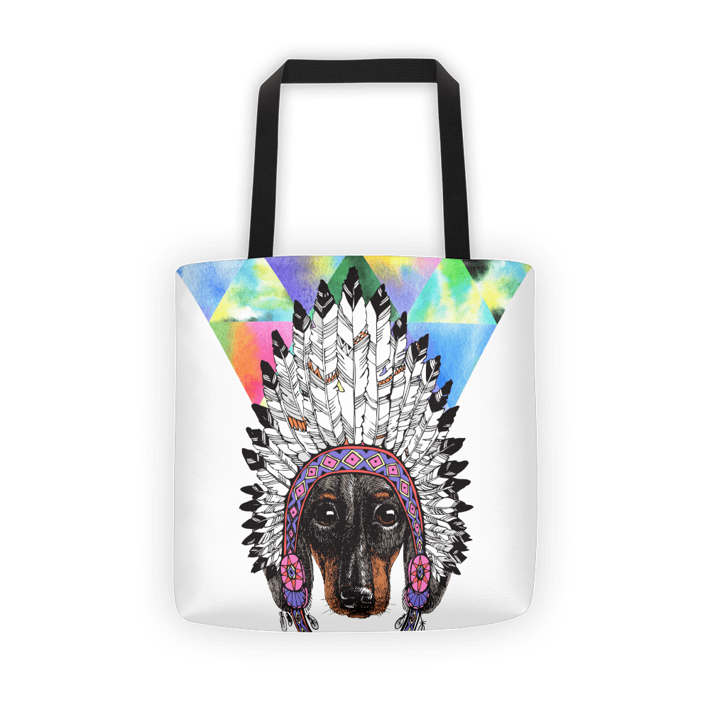 Doggie headress Tote bag