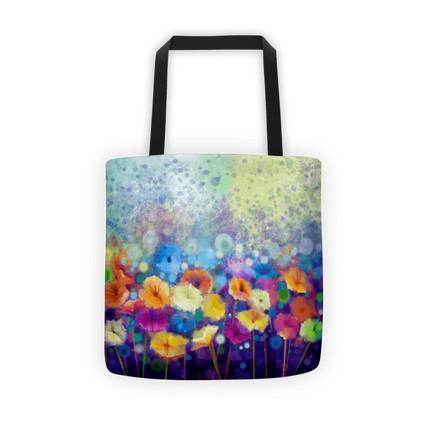 Floral floor Tote bag
