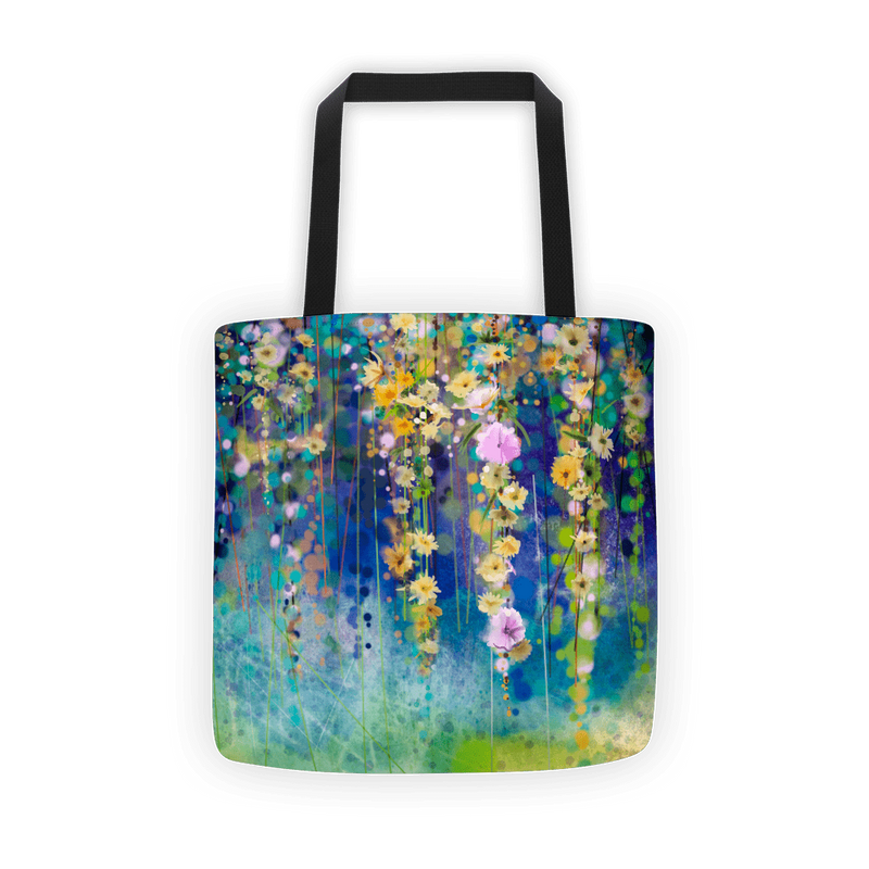 Blue floral lush Tote bag