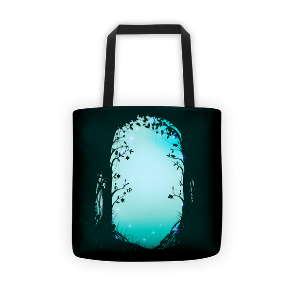 Green forest way Tote bag