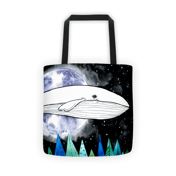 Lost whale Tote bag