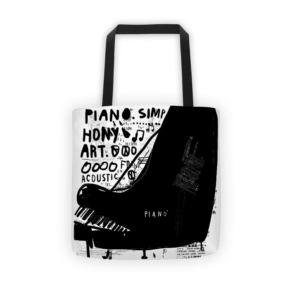Piano art Tote bag