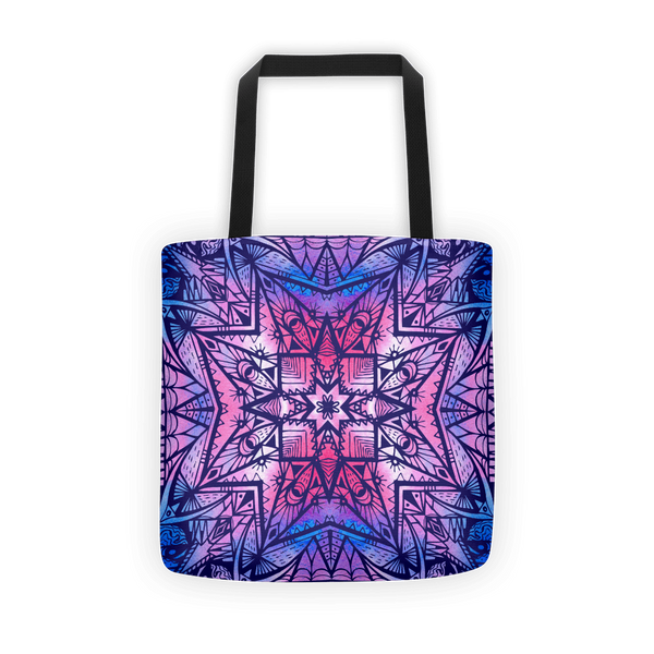 Purple geometric Tote bag