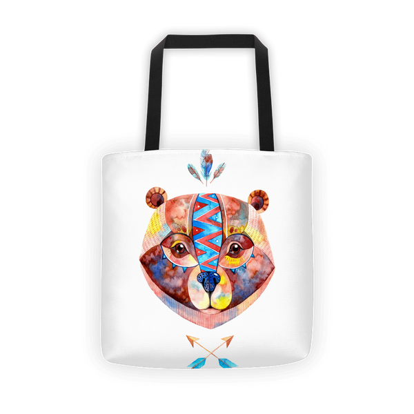 Raster bear Tote bag