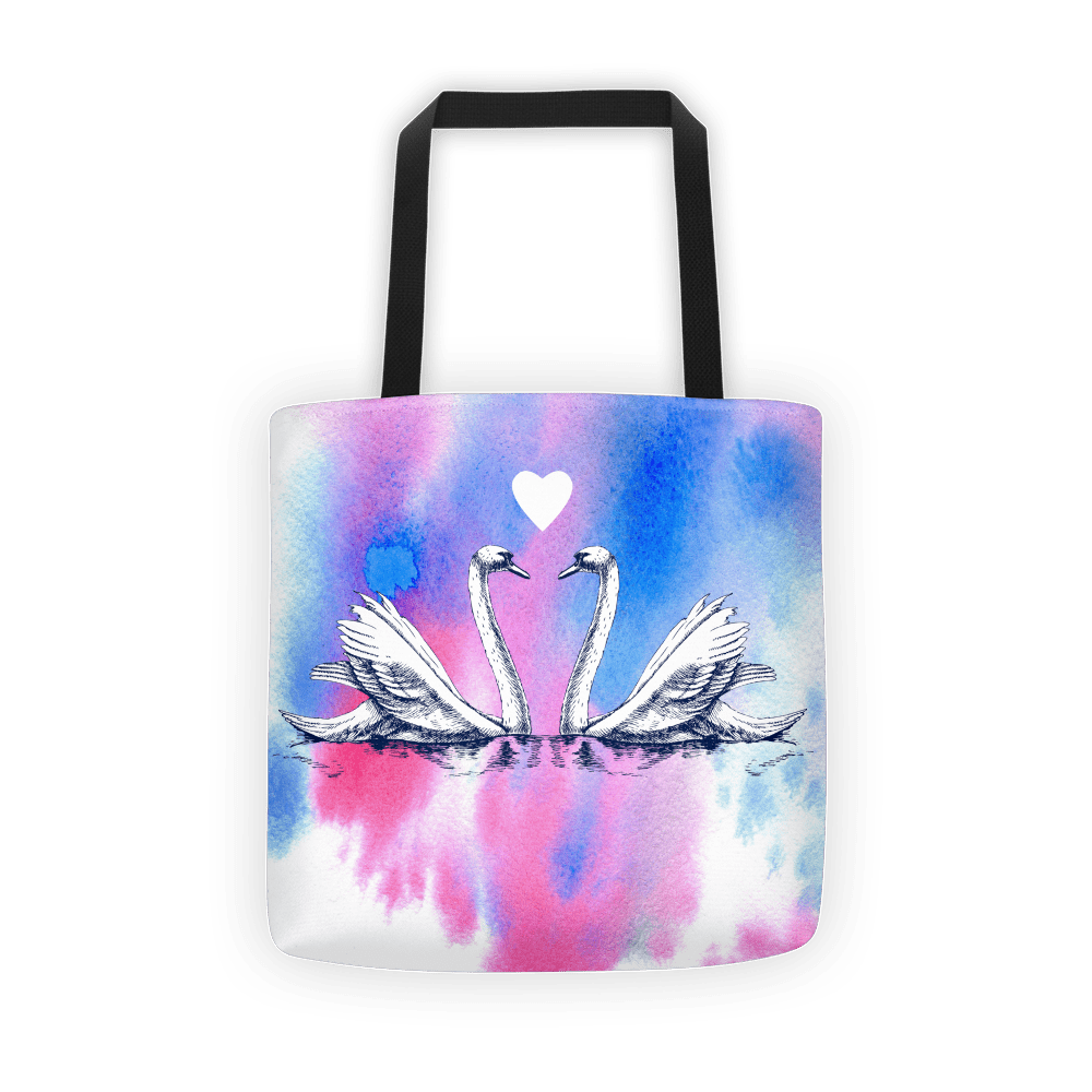 Swan water Tote bag