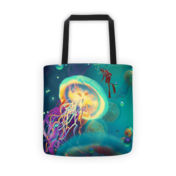Jelly diver Tote bag