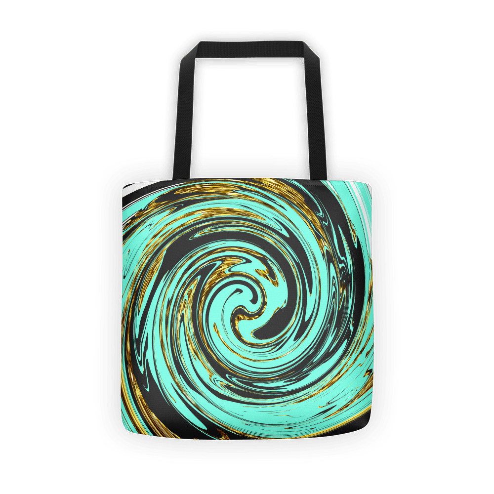 Turquoise marble swirl Tote bag