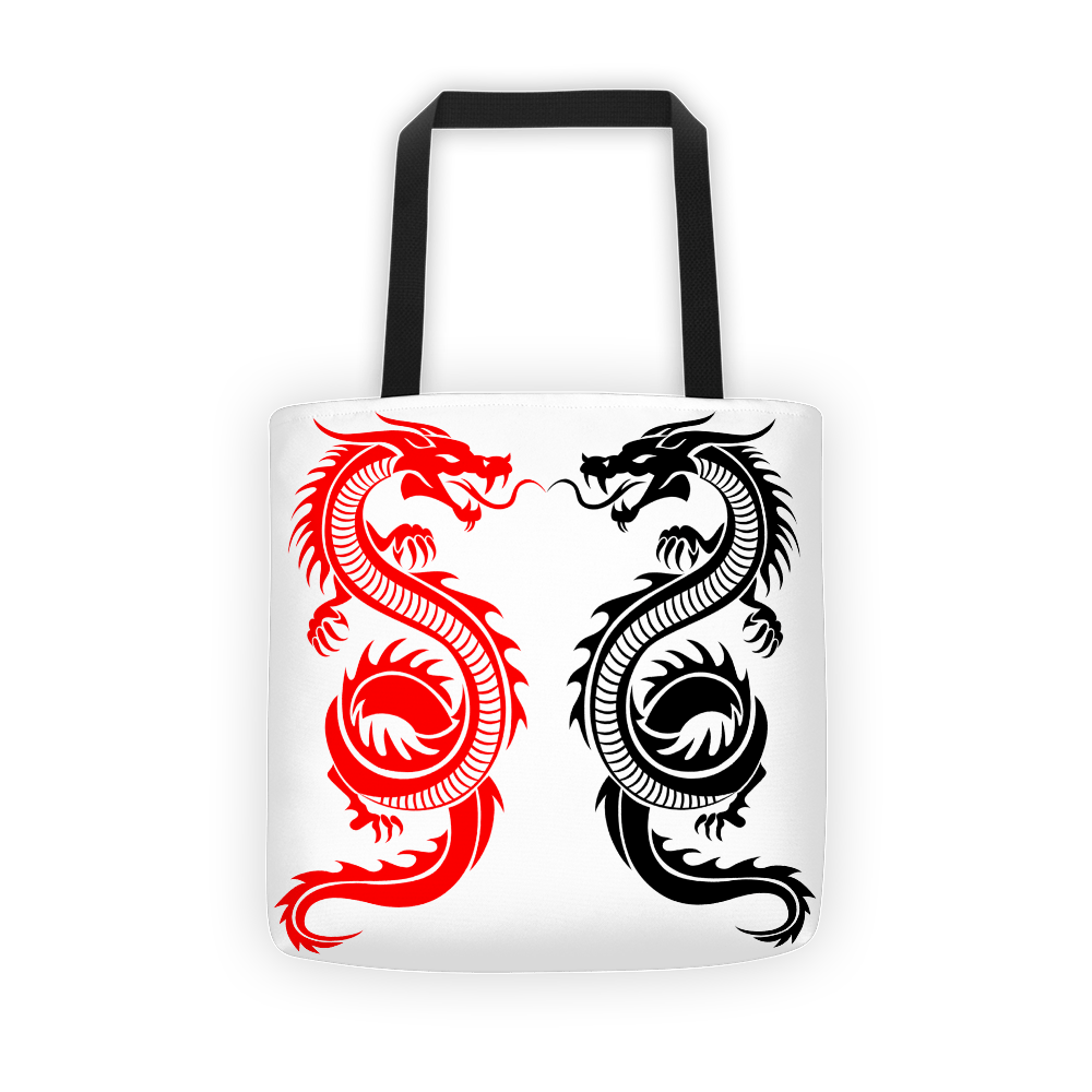 Twin Dragon Tote bag