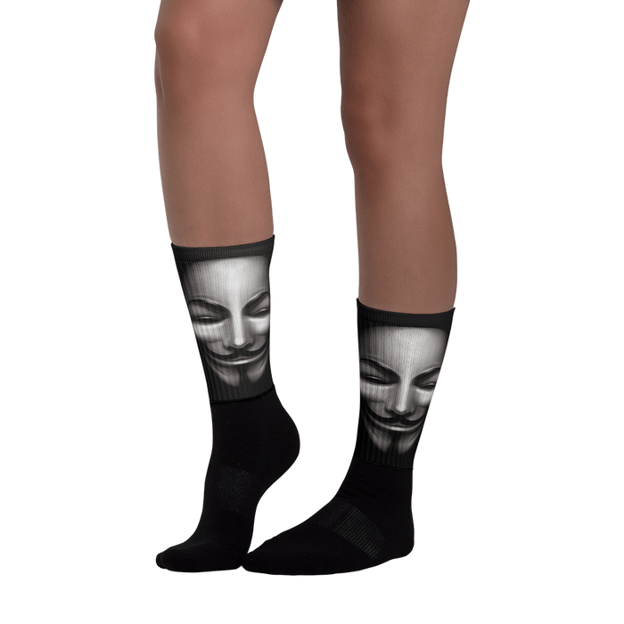 Anon Black foot socks