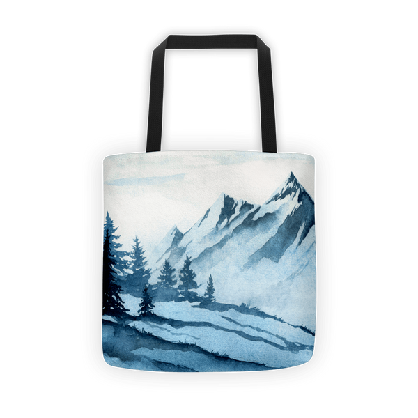 Watercolor mountain Tote bag