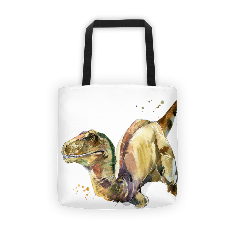 Watercolor Velociraptor Tote bag