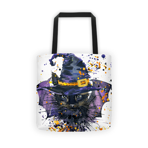 Witches cat Tote bag