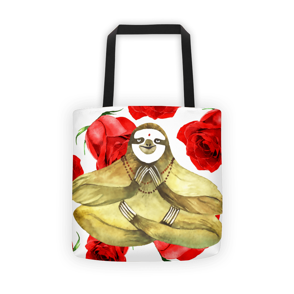 Yoga sloth Tote bag