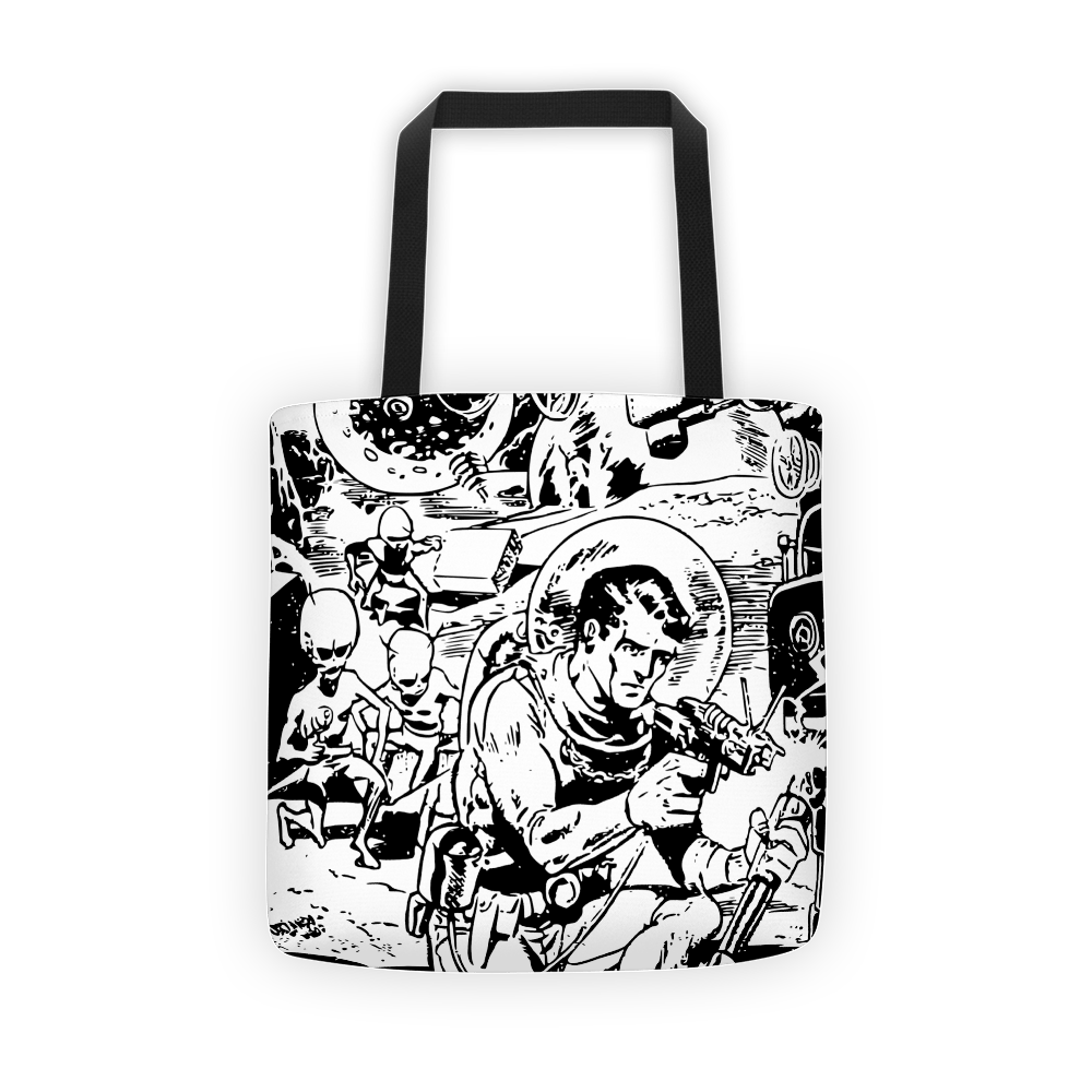 Alien spaceman Tote bag