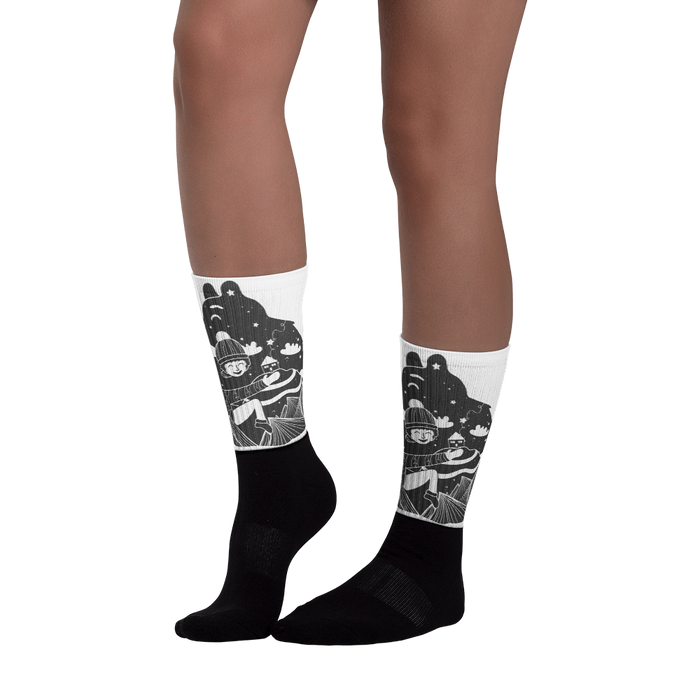 Bear Hug Black foot socks