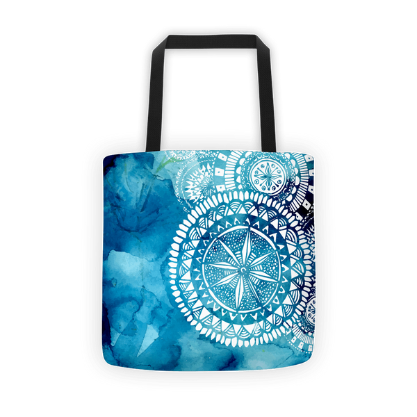 Aqua blue veritas Tote bag