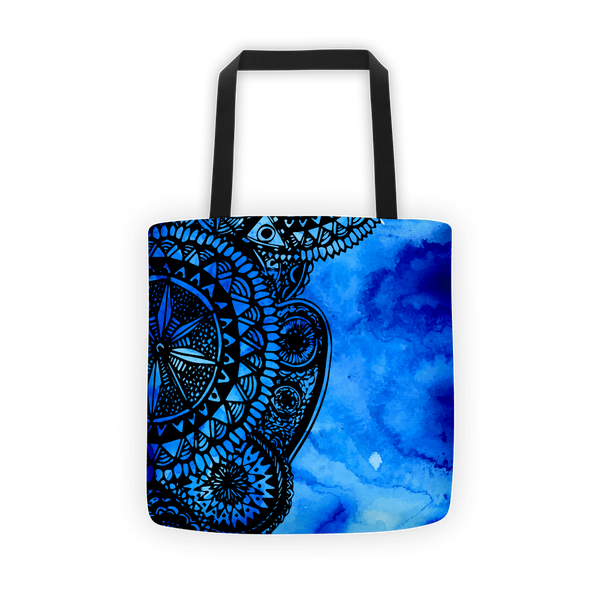 Dark blue veritas Tote bag