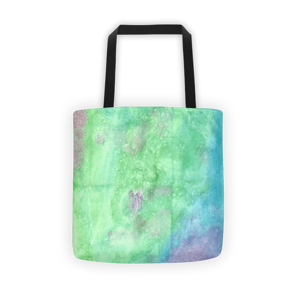Green watercolor Tote bag