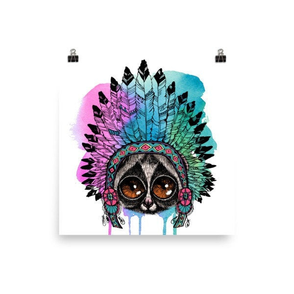 Loris headress Poster - Hutsylife - 2