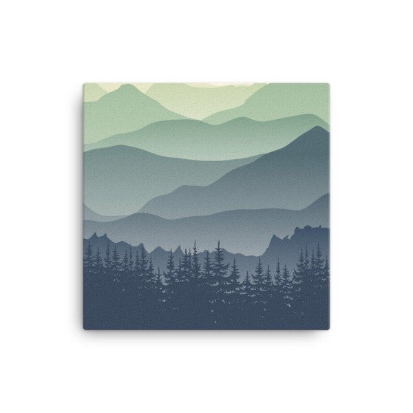Mountain fog Canvas - Hutsylife - 1