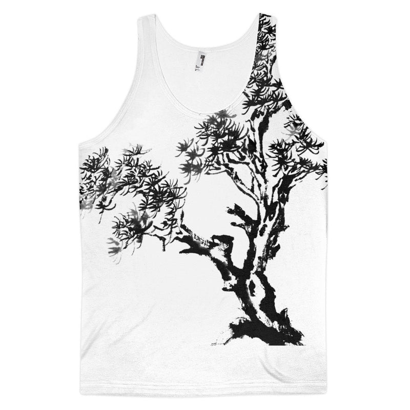 Branching Wind Classic fit men's tank top