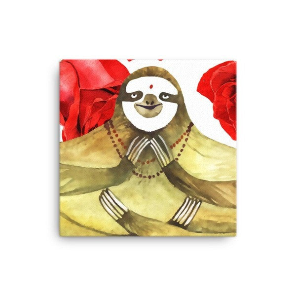 Rose sloth Canvas - Hutsylife - 1