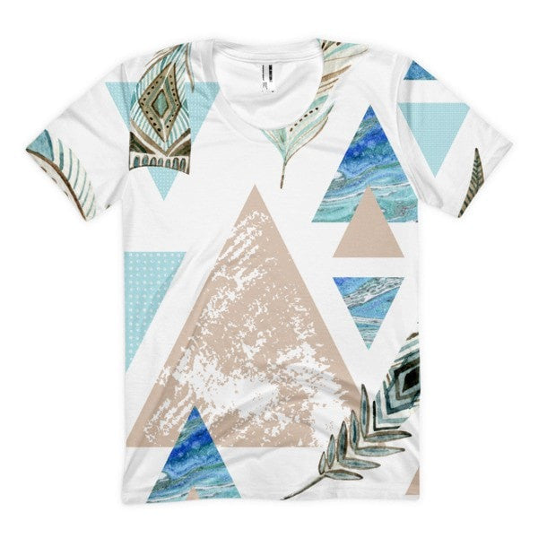 All over print - Geometric 80's grunge Women's sublimation t-shirt - Hutsylife - 1