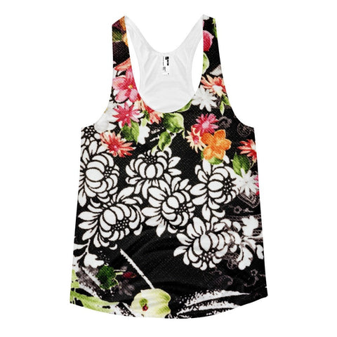 All over print - Bloomin brush Women's racerback tank