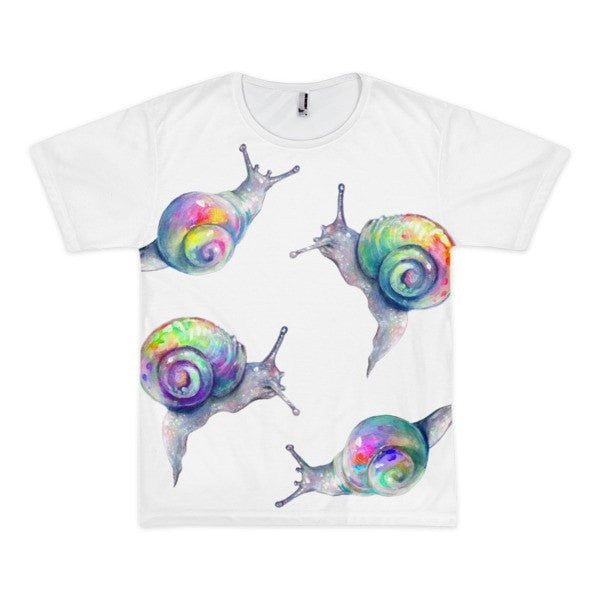 Snail watercolor Short sleeve men's t-shirt - Hutsylife