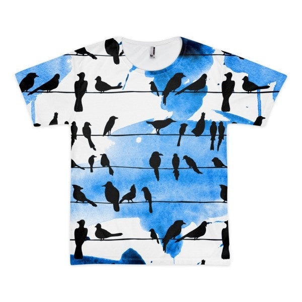 All over print - Chillin' birds Short sleeve men's t-shirt - Hutsylife - 1