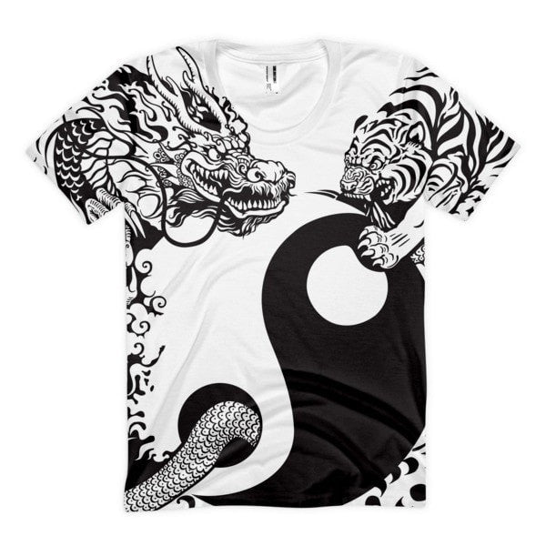 Frontal Print -Ying & Yang Women's sublimation t-shirt