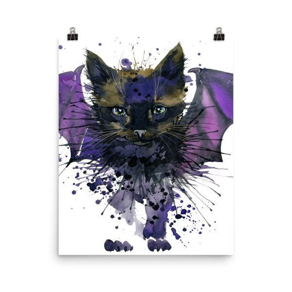 Bat cat Poster - Hutsylife - 7