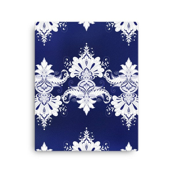 Blue & white flow Canvas - Hutsylife - 2