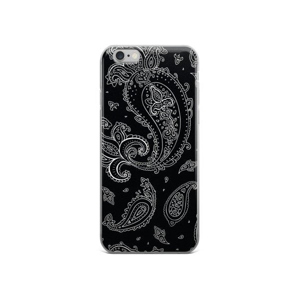 Black Paisely iPhone case - Hutsylife - 3