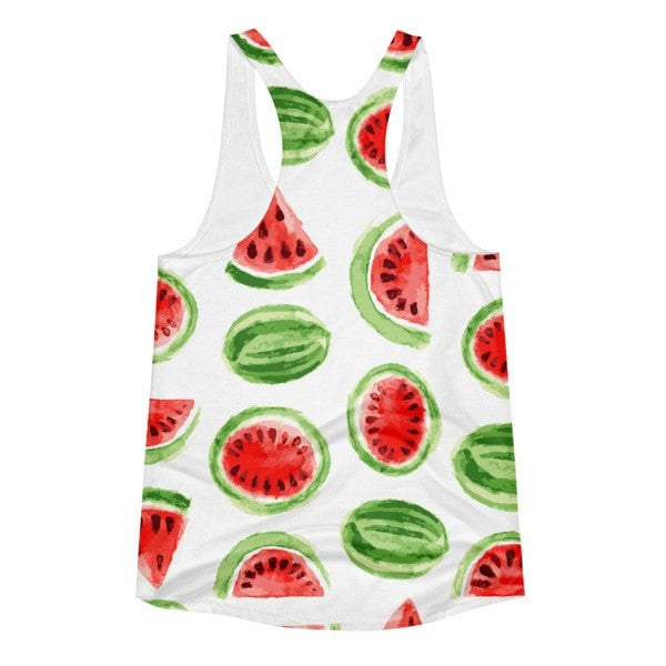 All over print - Watermelon Women's Racerback Tank - Hutsylife - 2