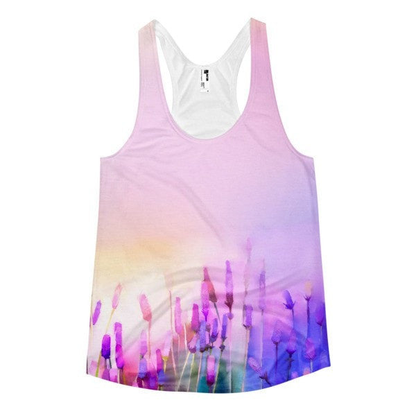 All over print - Violet lavender Women's Racerback Tank - Hutsylife - 1