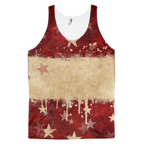 All over print - Grunge star Classic fit men's tank top - Hutsylife - 1