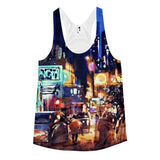 All over print- Women Rainy Night Racerback Tank - Hutsylife - 1