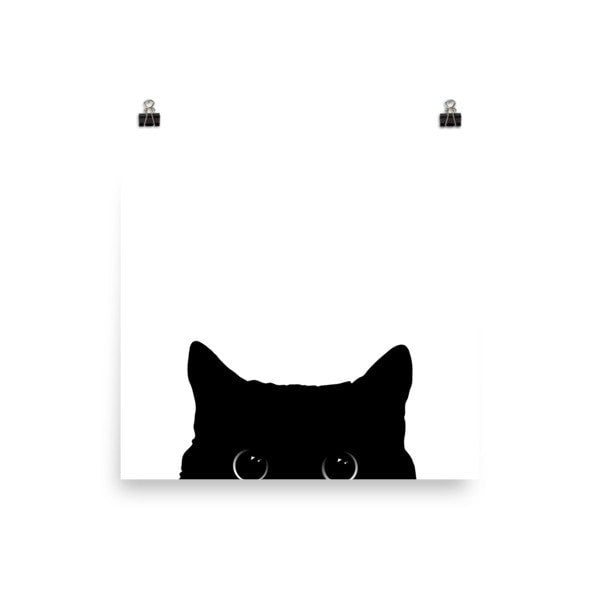 Peeking cat Poster - Hutsylife - 1