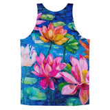 All over print - Lily pad Classic fit men's tank top - Hutsylife - 2