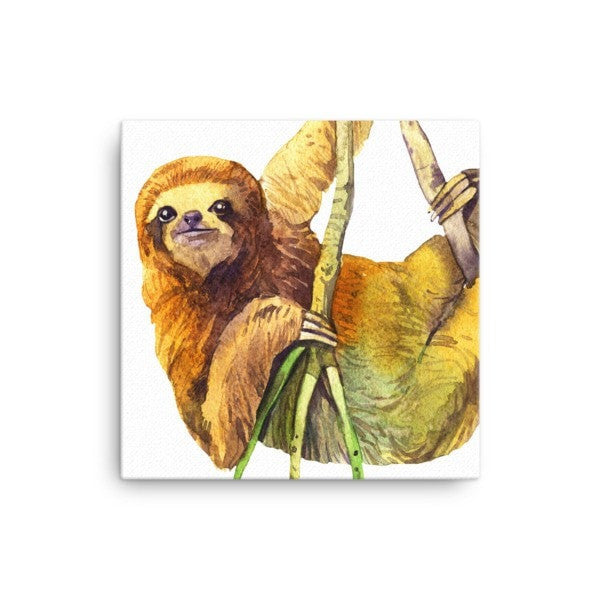 Watercolor Sloth Canvas - Hutsylife - 1