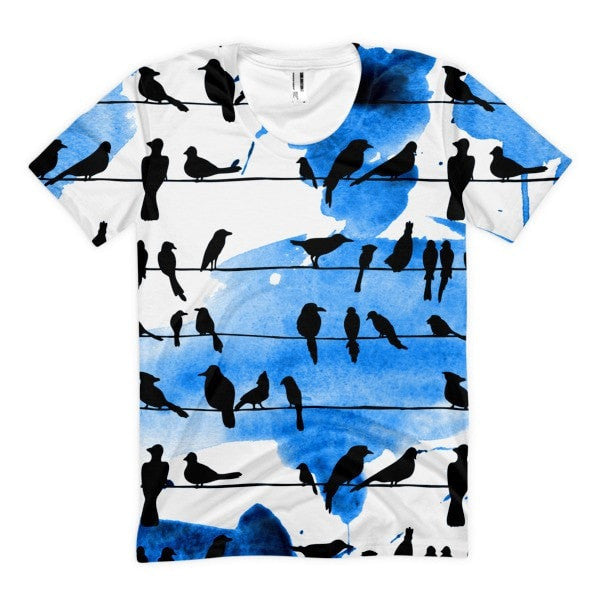 All over print - Chillin' birds Women's sublimation t-shirt - Hutsylife - 1