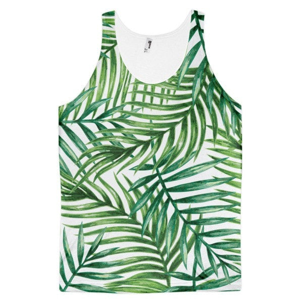 All over print - Tropical leaves Classic fit men's tank top - Hutsylife - 1