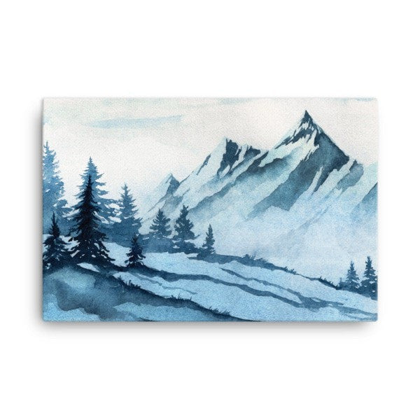 Watercolor mountain Canvas - Hutsylife - 4