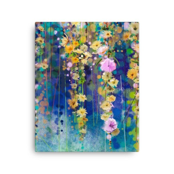 Blue & Yellow lush Canvas - Hutsylife - 2