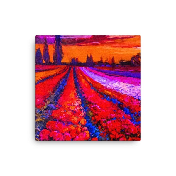 Tulip field Canvas - Hutsylife - 1