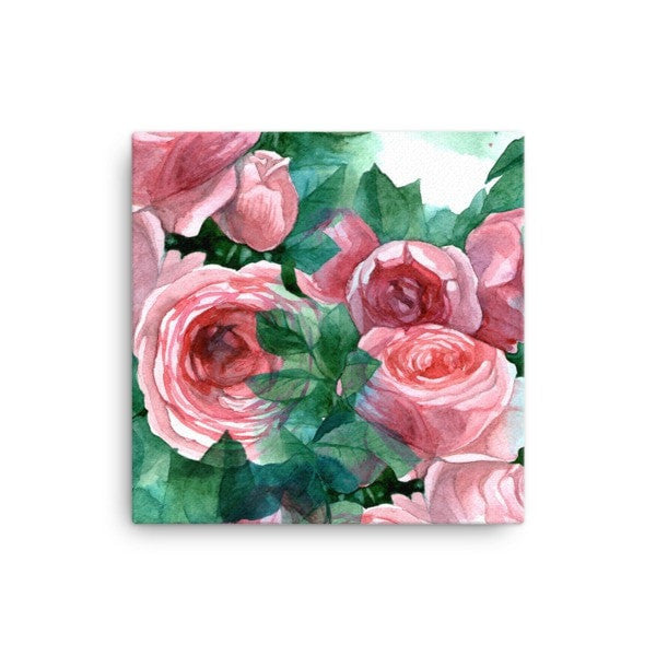 Pink rose Canvas - Hutsylife - 1